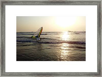 Boat In The Ocean  Framed Print by Zoh Beny