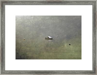 Boat In The Snow Framed Print by Joana Kruse