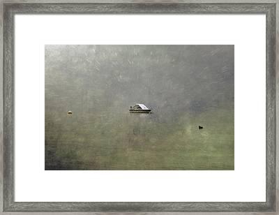 Boat In The Snow Framed Print by Joana Kruse