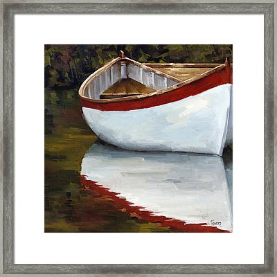 Boat Into The River Framed Print by Jose Romero