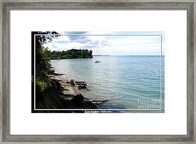 Boat On Lake Ontario Framed Print by Rose Santuci-Sofranko