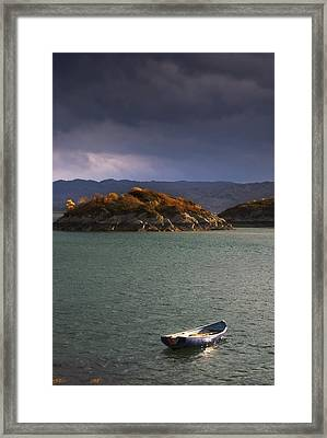 Framed Print featuring the photograph Boat On Loch Sunart, Scotland by John Short