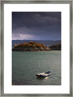 Boat On Loch Sunart, Scotland Framed Print