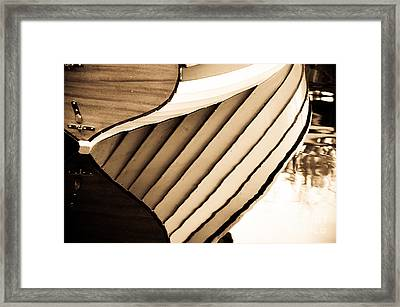 Boat Reflection Framed Print by Camille Lyver
