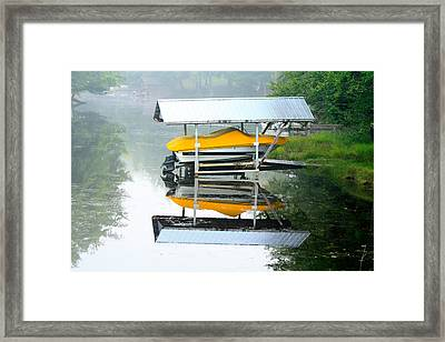 Framed Print featuring the photograph Boat Reflections by Ann Murphy