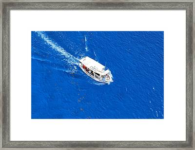 Boat Ride In Cozumel Mexico Framed Print by Charles Covington
