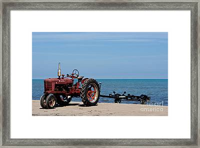 Framed Print featuring the photograph Boat Trailer by Barbara McMahon