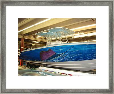 Boat Wrap Framed Print by Carey Chen
