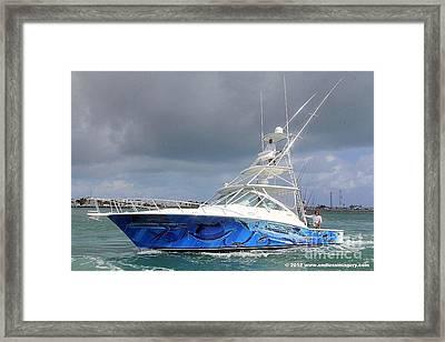 Boat Wrap On Cabo Framed Print