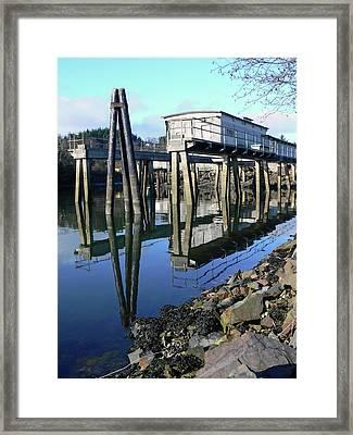 Boat Yard Gear Shed Framed Print by Pamela Patch