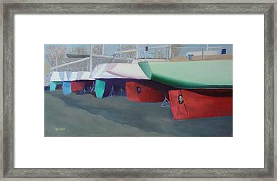 Boat Yard Island Heights Framed Print