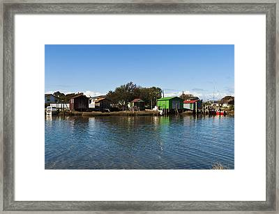 Boathouses Framed Print by Graeme Knox