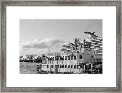 Framed Print featuring the photograph Boats - The Past And Now by Jasna Gopic