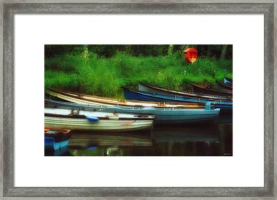 Boats At Rest Framed Print