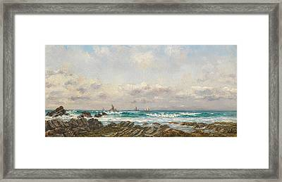 Boats At Sea Framed Print