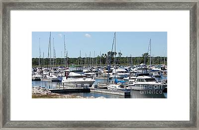 Framed Print featuring the photograph Boats At Winthrop Harbor by Debbie Hart