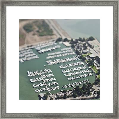 Boats In A Marina Framed Print by Eddy Joaquim