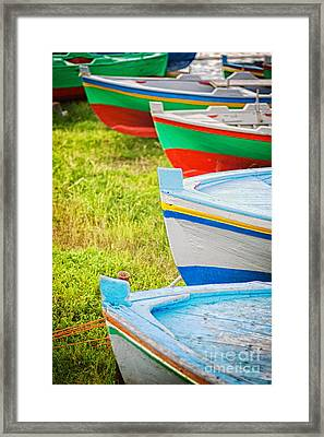 Boats In A Row II Framed Print by Silvia Ganora