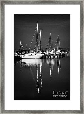 Boats In Ballyronan Marina Lough Neagh County Derry Londonderry Northern Ireland  Framed Print by Joe Fox