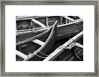 Boats In Cochin Framed Print by Michael Warford