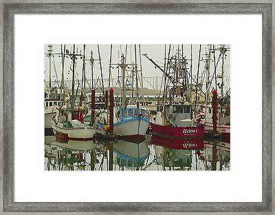 Boats In Harbour Framed Print by Dale Stillman