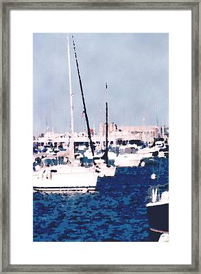 Boats In Summer  Framed Print by Katriel Jean-Baptiste