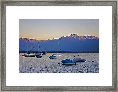 Boats In The Evening Sun Framed Print