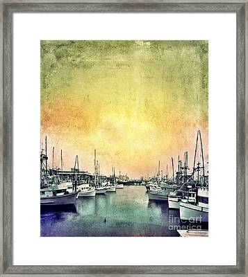 Boats In The Harbor Framed Print by Jill Battaglia