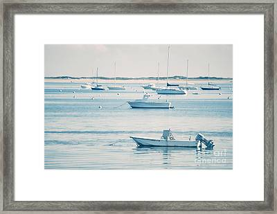 Boats In The Ocean Framed Print