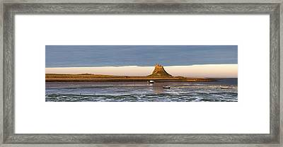 Boats In The Water And A Castle On The Framed Print