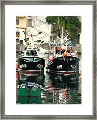 Boats Framed Print by Jenny Senra Pampin