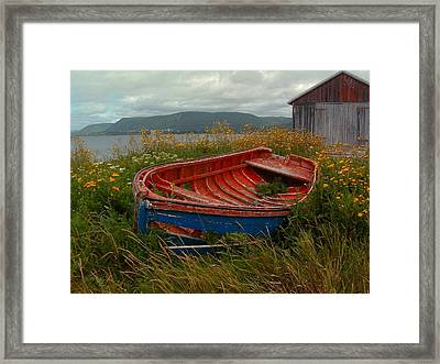 Boats  Shore In Time Framed Print