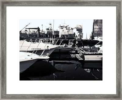 Boatscape Framed Print by Amy Harrison
