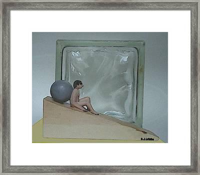 Bob And Glass Framed Print
