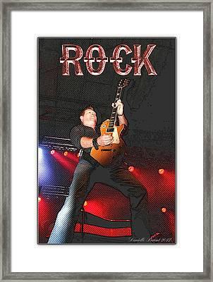 Bob Champoux Rock 1 Framed Print by Danielle  Parent