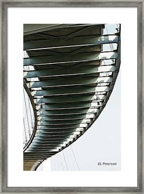 Bob Kerrey Pedestrian Bridge Framed Print by Edward Peterson