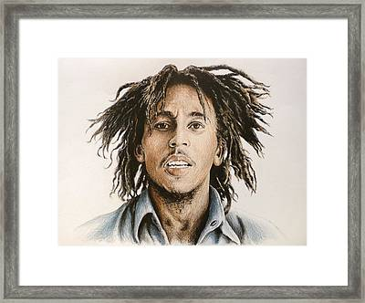 Bob Marley Framed Print by Andrew Read