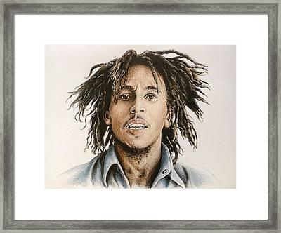Bob Marley Framed Print by Andrew Read