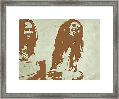Bob Marley Brown 2 Framed Print