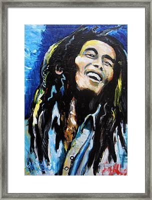 Bob Marley  Framed Print by Jon Baldwin  Art
