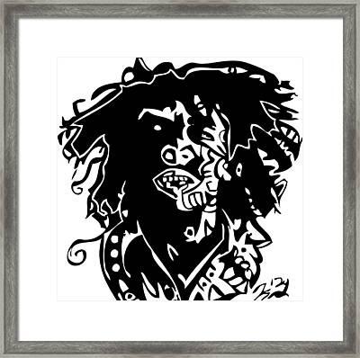 Bob Marley Framed Print by Kamoni Khem