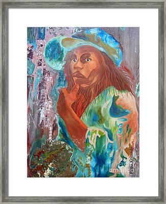 Bob Marley Framed Print by Kennedy Franz