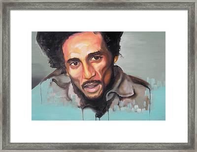 Bob Marley Framed Print by Matt Burke