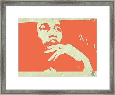 Bob Marley Orange Framed Print