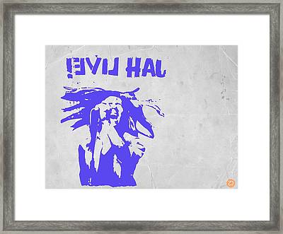 Bob Marley Purple 2 Framed Print by Naxart Studio
