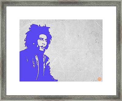 Bob Marley Purple 3 Framed Print