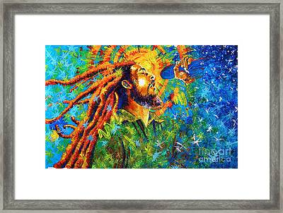 Bob Marley's Tribute Framed Print by Jose Miguel Barrionuevo