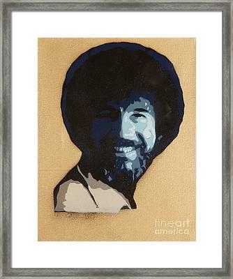 Bob Ross Framed Print by Tom Evans