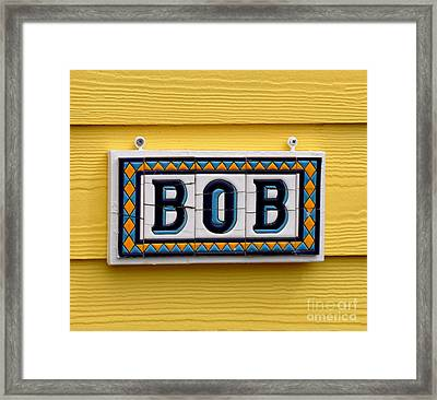 BOB Framed Print by Tanya  Searcy
