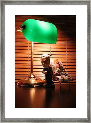 Bobble Freud Psychobabbles Beeker Framed Print by Alan Schwartz